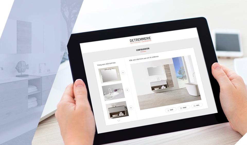 Stel je eigen badkamer samen met de Badkamer Configurator